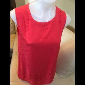 Vex Collection Red Sleeveless Blouse